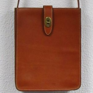 Fossil Leather Crossbody North/South Bag Tan